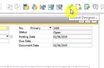 Update a Crystal Report Layout from Business One – Navigator